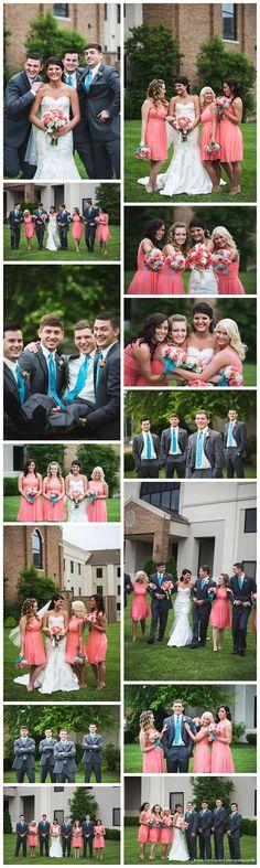 Coral and Malibu blue Wedding - Joplin Missouri Wedding Photographer - Northwest Arkansas Wedding Photographer - Leah Marie Landers Photography