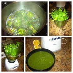 Broccoli and Arugula soup. Yummy......