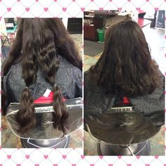 Donations ✂️#donatedhair#wavyhair#longhair Products used was Sebastian hairspray, Kara care 1st lather and leave in conditioning