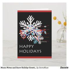 Music Notes and Snow Holiday Greeting Card - holidays diy custom design cyo holiday family Music Greeting Cards, Holiday Greeting Cards, Custom Greeting Cards, Christmas Cards, Custom Cards, Snow Holidays, Happy Holidays, Family Holiday, Music Notes