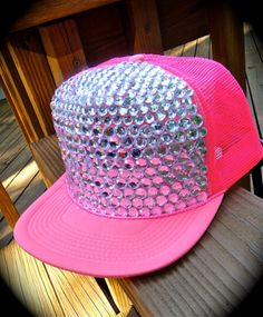 pink trucker hat with bling Pink Love, Pretty In Pink, Hot Pink, Pink Bling, Cute Hats, Everything Pink, Color Rosa, Festival Outfits, Snapback Hats