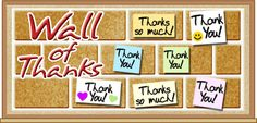 """Education World: Bulletin Boards that Teach: Wall of Thanks - This is a great site with lots of ideas. The """"Thank you"""" wall can be for Veteran's Day, Thanksgiving Day or use it for Appreciation Day for residents, staff and/or volunteers."""