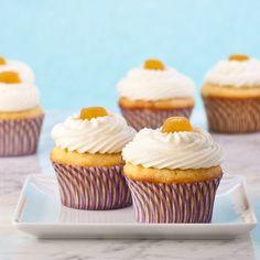 GF Pineapple orange cupcakes with pineapple orange cream cheese butter cream