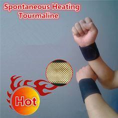 Natural Stone Tourmaline Self-heating Wrist Support Bracers Adjustable Wristband for Health Care Turmalina Spontaneous Heating