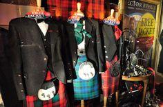 Productos tipicos de Escocia, tejidos