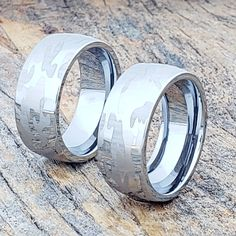 The Tungsten Camouflage Ring is unique Tungsten Carbide Ring in a unique design. This Wedding Band is extremely durable and will remain beautiful for a lifetime. Camo Rings, Engagement Pictures, Engagement Shoots, Engagement Photography, Tungsten Carbide Rings, Hard Metal, Claddagh Rings, Camo Wedding, Tungsten Wedding Bands