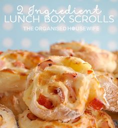 2 INGREDIENT LUNCHBOX SCROLLS - Only 2 ingredients needed to make these super easy scrolls. Quickly make the kids some scrolls for thier school lunchbox flavoured in so many different ways.