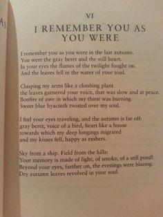 ...of light, of smoke, of a still pond | Pablo Neruda. V