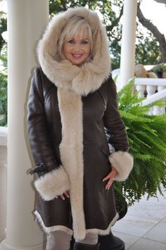 Check out the deal on Come Hither Hooded Toscana Shearling Sheepskin Coat at Fur Coat | Fur Jacket | Shearling Coat | Shearling Jacket | Aspen Fashions by Gwen