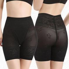 #AdoreWe #NewChic NewChic Plus Size Jacquard Breathable Mid Waist Safety Pants Boyshorts Shapewear - AdoreWe.com