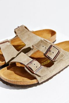 Birkenstock Arizona Suede Soft Footbed Sandal - I have an offbrand version of these shoes, and they are so much cheaper and still good quality. They also look really nice!