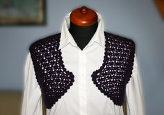 Items similar to bolero purple on Etsy Ruffle Blouse, Purple, Trending Outfits, Crochet, Unique Jewelry, Handmade Gifts, Etsy, Vintage, Tops