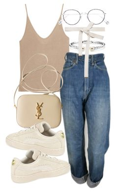 """""""Untitled #21532"""" by florencia95 ❤ liked on Polyvore featuring T By Alexander Wang, Levi's, Yves Saint Laurent, Puma, Blue Nile, Ahlem and Marni"""