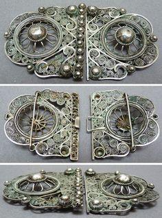 Boucle DE Ceinture Argent Massif Filigrane Empire Ottoman Inde   eBay