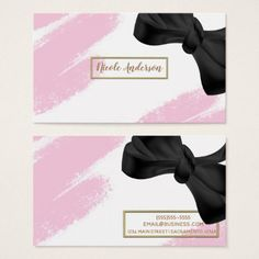 Christian pastor business card diy cyo customize gift idea pink white gold modern minimal pink brush bow business card glam gifts unique diy negle Gallery