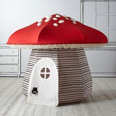 It's always playtime in Land of Nod playhouses and teepees. No kids' room or playroom is complete without a steller playhouse, teepee or tent. Build A Playhouse, Playhouse Kits, Backyard Playhouse, Roll Up Doors, Land Of Nod, Red Roof, Baby Store, Kid Spaces, Play Houses