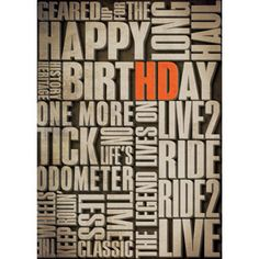 H-D® Verbiage - Birthday Card at ACE Branded Products
