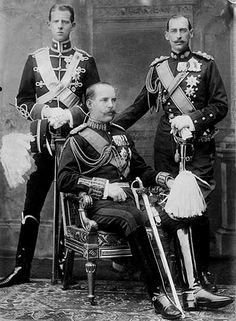 Their Royal Highnesses Prince Andrew King Constantine and Prince Nicholas of Greece Young Prince Philip, Prince Andrew, Lappland, Princess Victoria, Queen Victoria, Princess Alice Of Battenberg, King George I, Otto Von Bismarck, Greek Royalty