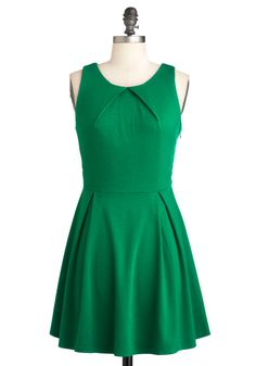 So Profesh and So Green Dress, #ModCloth Bright green casual dress.  New Look 6184