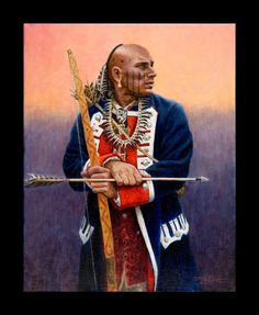 The Frontier Partisan Art of Steve White - Frontier Partisans - Blue Jacket.