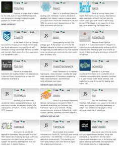 45 Javascript Application Frameworks