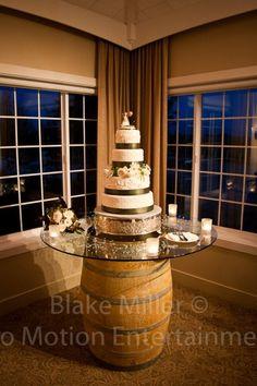 Amazing Wedding Cake on a Wine Barrel - Ponte Family Winery Wedding