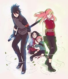 "This is what i call ""a real family"". In anime Sasuke is not even home =_="