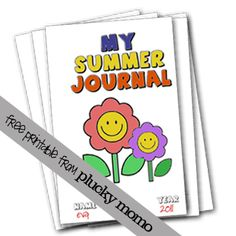 Kids Summer Journal with 4 cover options. Free Printable via Plucky Momo. Craft Activities For Kids, Summer Activities, Projects For Kids, Kids Crafts, Craft Ideas, Summer Fun List, Summer Kids, Free Summer, Summer Journal