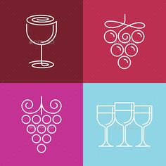 Wine logos and symbols
