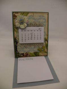 how to set up an easel calendar