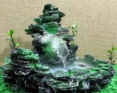 Fonte De Água Cascata Pedra Em Resina