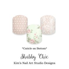 "Shabby Chic: If you want to get these beauties of your fingers and toes, head on over to my Jamberry Nail Art Studio Marketplace! Simply click on the image above and it will direct you right to the listing! To see more of my designs and some special sales, join my Facebook group ""Kim's Nail Art Studio Designs"" at www.facebook.com/groups/925106354278688 Thanks for the interest in my designs!"
