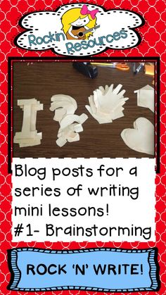 Free ideas!  Find great ideas for writing mini lessons!  This first post is about brainstorming ideas for the year!  Now they will have a great resource to fall back on when they have writer's block!  Designed by Rockin Resources