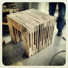 recycled pallet table from mush.room studio