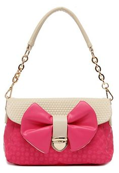 Cute Fresh Bowknot Mixing Color Shoulder Bag #bowknot #bag www.loveitsomuch.com