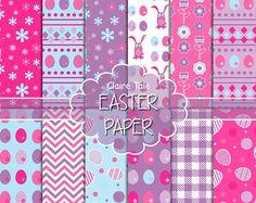 Basicos Pascua Easter Fondos Papel Chevron Puntos por LagartixaShop