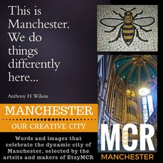 Words and images celebrating the city of Manchester, chosen by the artists and makers of the EtsyMCR team City Works, Manchester Art, Artists, Words, Celebrities, Photos, Etsy, Image, Pictures