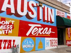 6th St Historic District: 6th  SB I-35 Access Rd  Free Fun in Austin: Exploring Austin's Street Art, Murals  Mosaics
