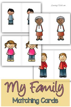 Use these free my family preschool theme matching cards for a fun preschool math activity.
