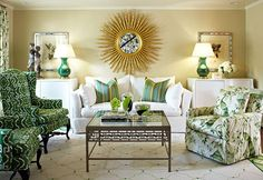Design: Tobi Fairley  @Traditional Home  Experts Tips: Decorating with Emerald