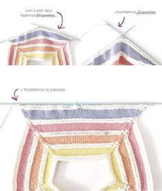 Learn how to Make this Knitted Baby Rainbow Romper. FREE Step by Step Tutorial & Patternl. Cheerful, Colorful and Delicate at the same time! Diy Romper, Romper Suit, Baby Bikini, Crochet Bikini, Knit Crochet, Crotchet, Knitted Baby Clothes, Summer Crafts, Baby Knitting Patterns