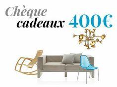 Chèque cadeaux 400 € www.amateurdedesign.com