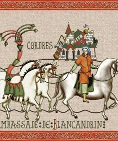 La Chanson de Roland, page 2, Marsile est à Saragosse, Ambassade de Blancandrin, Offre de paix, Conseil de Charlemagne