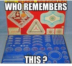 I had this exact spirograph set as a kid. My Childhood Memories, Great Memories, Retro Toys, Vintage Toys, Vintage Stuff, 1960s Toys, 1980s, Spirograph, I Remember When