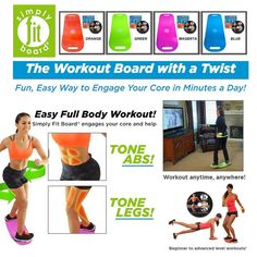 Simply Fit Board is the workout board with a twist! It is the fun and easy way to engage your core in minutes a day. Workout anytime, anywhere with Simply Fit Board!