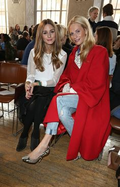 Poppi Delevingne and Olivia Palermo   Emilia Wickstead: Front Row - London Fashion Week AW14