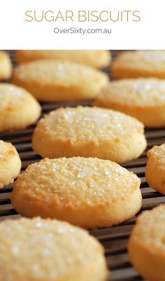 Sugar Biscuits - if you're craving something sweet, this simple sugar cookie recipe is almost too easy to make!
