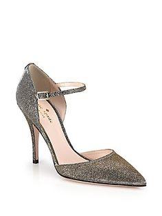 Kate Spade New York Lanora Lurex Ankle-Strap Pumps