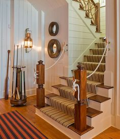 Rope, mirrors and oars - All play a pivotal role in bringing the nautical appeal