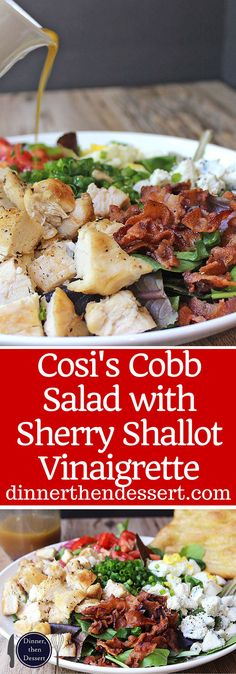 Cosi Cobb Salad with grilled chicken, bacon, eggs, gorgonzola and